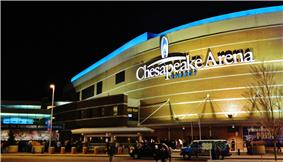 exterior view Chesapeake Energy Arena