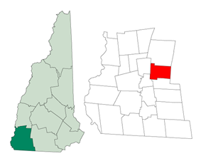 Location in Cheshire County, New Hampshire