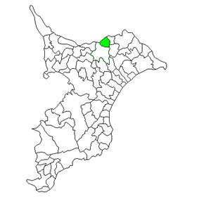 Location of Shimofusa in Chiba Prefecture