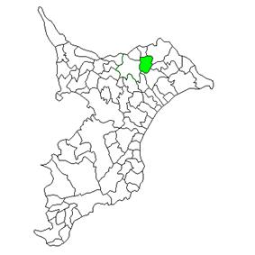 Location of Taiei in Chiba Prefecture