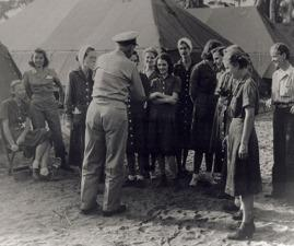 Chief Nurse Laura Cobb and Dorothy Still Danner among other Navy Nurse POWs after their release.