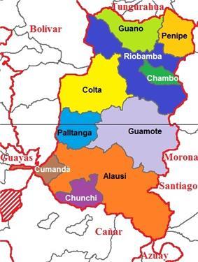 Cantons of Chimborazo Province