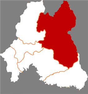 Location in Baishan City