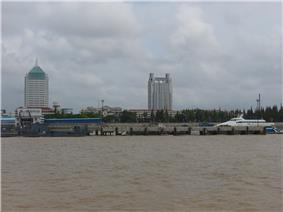 Nanmen Port in Chengqiao, the county seat and largest town on Chongming.