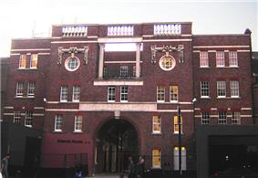 The China Inland Mission, one of two Grade 2 listed buildings on Newington Green. (October 2005).