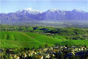 Chino Hills, with the San Gabriel Mountains in background