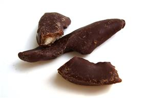 Chocolate-coated citrus peel.