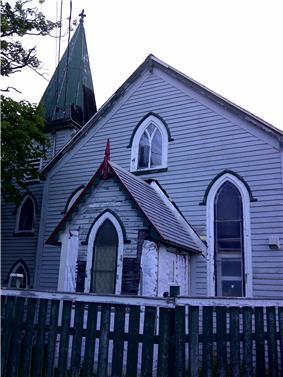 Worn exterior of Christ Church / Quidi Vidi Church