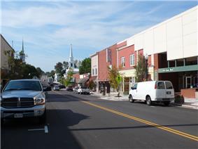 Main Street in Christiansburg, Virginia.