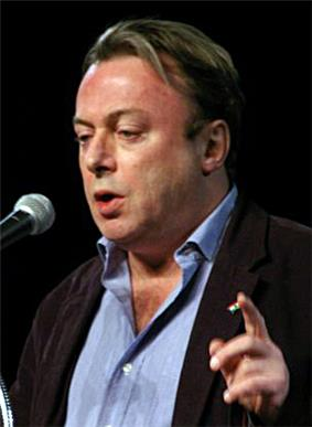 Hitchens photographed from profile