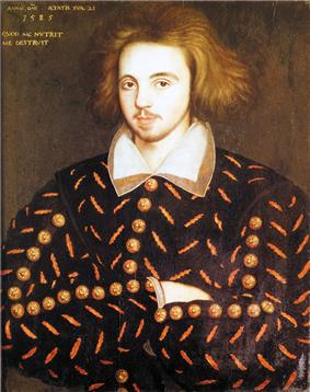 Portrait of Christopher Marlowe