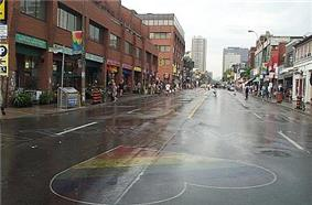 View of Church Street looking north from Maitland Street.