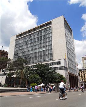 Headquarters of the Banco de la República, in Bogotá, Colombia