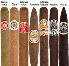 Cigar Wrapper Color Chart.