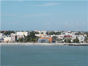 View of the city from the Terminos Lagoon