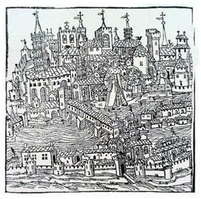 Early 16th-century engraving of Toulouse
