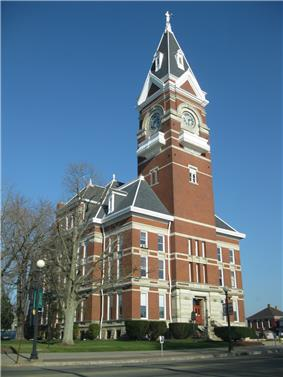 The Clarion County Courthouse downtown