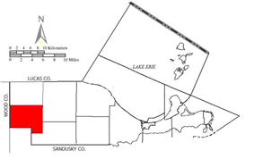 Location of Clay Township in Ottawa County