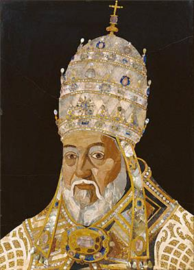 Mosaic of Pope Clement VIII wearing a papal tiara