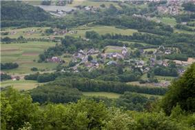 A panoramic view of the village of Cléry