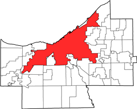 Location in Cuyahoga County