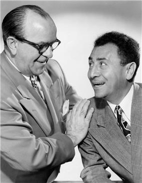Photograph of Jack Pearl and Cliff Hall