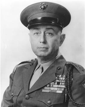 black & white photograph of Clifton B. Cates