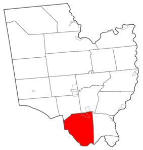 Location within Saratoga County