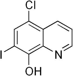 Skeletal formula of clioquinol