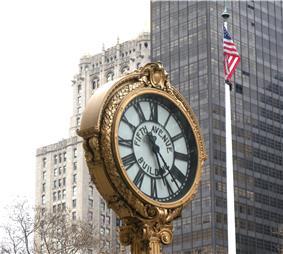 Sidewalk Clock at 200 5th Avenue, Manhattan