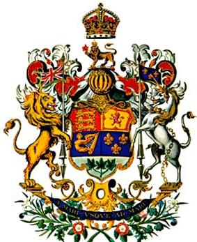 The official depiction of the Arms of Canada as it appeared in 1923