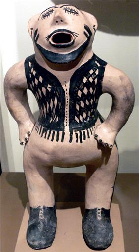 Cochiti Pueblo clay figure (mono), circa 1883