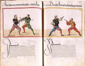 page of Mscr. Dresd. C 93 by Paulus Hector Mair (1540s)
