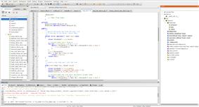 A screenshot of the open-source CodeLite C/C++ IDE in action