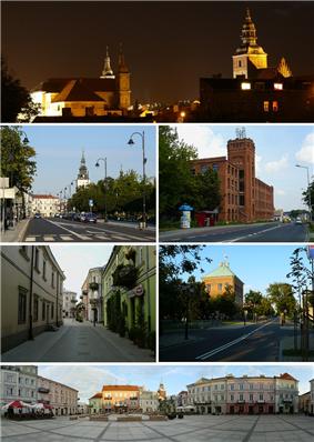 Night view of Old Town, Słowacki Street, Piotrkowska Manufaktura, street in Old Town, Royal Castle, Market Square