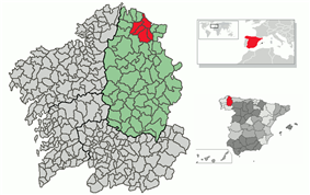 Location of Foz in Spain