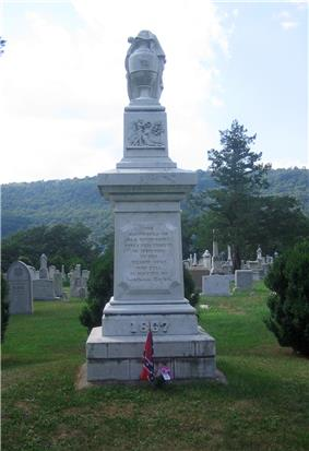 First Confederate Memorial in Indian Mound Cemetery
