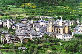A general view of Conques