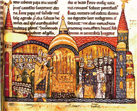 The consecration of Cluny III by Pope Urban II.