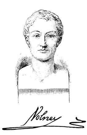 a sketch of a bust of Constantin-François Chassebœuf