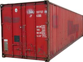 Red 40 ft shipping container