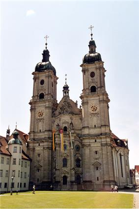 A large cathedral with two distinct summits.