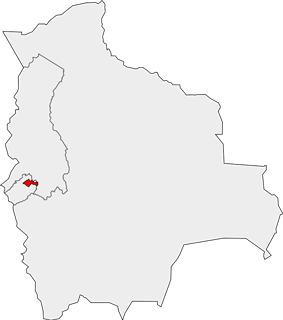 Location of the Coro Coro Municipality within Bolivia