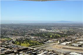 An aerial view of Costa Mesa in March 2011.