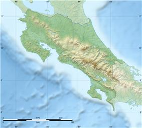 Map showing the location of Monteverde Cloud Forest Reserve