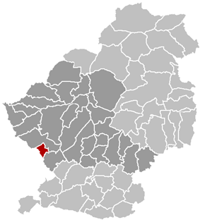 Location of Courchelettes within the Arrondissement of Douai