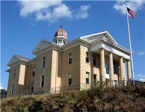 Dodge County Courthouse in Mantorville