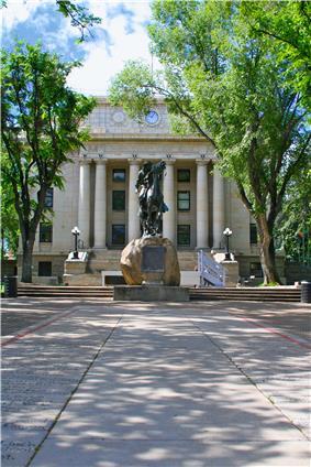 Courthouse & Buckey O'Neill statue