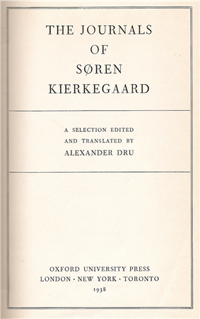 Title page of a book, headed