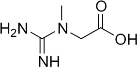 Skeletal formula of creatine